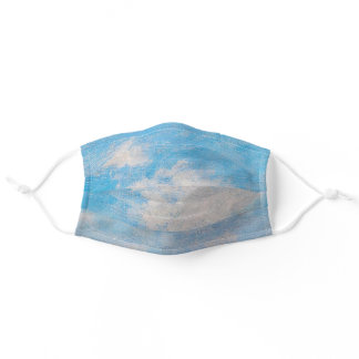 Blue Sky & Clouds Monet Impressionist Painting Adult Cloth Face Mask