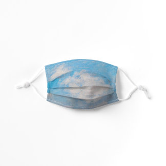 Blue Sky & Clouds Monet Impressionist Painting Kids' Cloth Face Mask