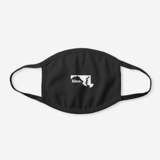 BLUE STATE MARYLAND BLACK COTTON FACE MASK