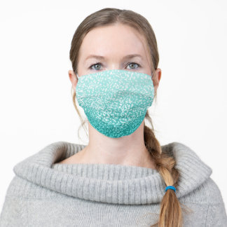 Blue teal turquoise sparkling texture. adult cloth face mask