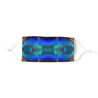 Blue Waves Light Painting by Tron2020 Adult Cloth Face Mask