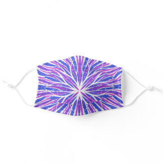 Blue, White and Purple Mandala Abstract Face Mask