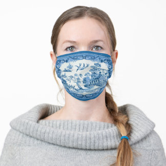 Blue Willow Adult Cloth Face Mask