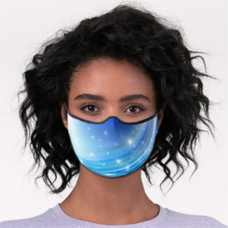 Blues To Go With Your Eyes Women's Glasses Premium Face Mask