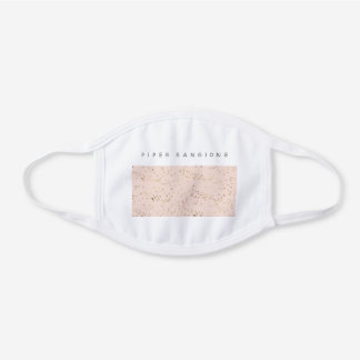 Blush Pink And Gold Professional Custom Business White Cotton Face Mask