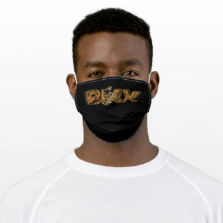 BMX Font With Skeleton Cyclist Adult Cloth Face Mask