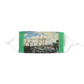 Boats in Galway City Ireland Adult Cloth Face Mask