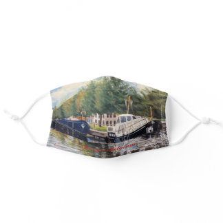 Boats of Brugge Impressionistic Oil Painting Adult Cloth Face Mask