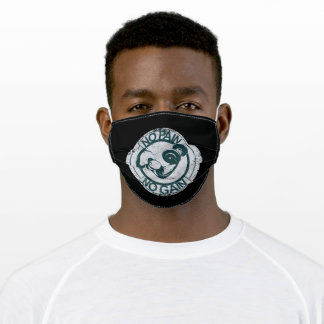 Bodybuilder with dumbbell adult cloth face mask