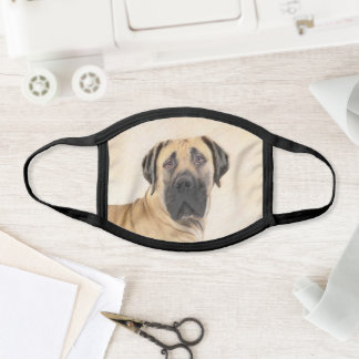 Boerboel Painting - Cute Original Dog Art Face Mask