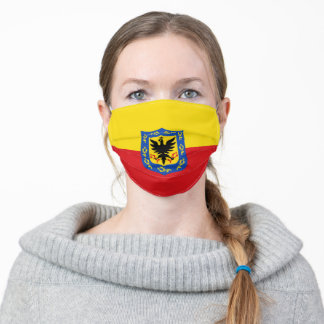 bogota city colombia flag country flag symbol nati adult cloth face mask