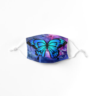 Bold Blue Butterfly Pretty with Your Eyes Kids' Cloth Face Mask