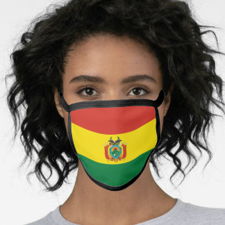 Bolivian flag face mask