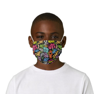 BONK ZAP CRASH Pattern Kids' Cloth Face Mask