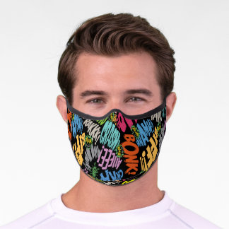 BONK ZAP CRASH Pattern Premium Face Mask