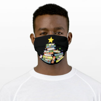 Bookish Christmas Tree I Adult Cloth Face Mask