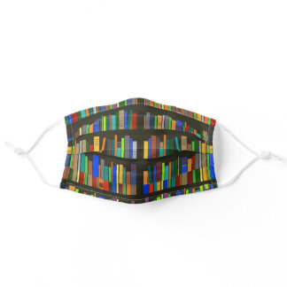 Books Bookshelves Design Face Mask
