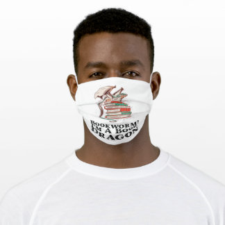 Books - Bookworm? I'm A Book Dragon Adult Cloth Face Mask