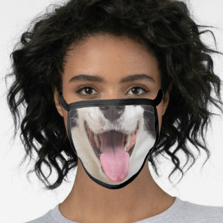 Border Collie Mouth Cute & Funny Nose Dog Lovers Face Mask