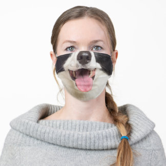 Border Collie Mouth Funny Nose Face Dog Lovers Adult Cloth Face Mask
