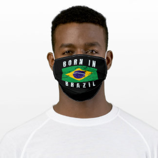 Born in Brazil Adult Cloth Face Mask