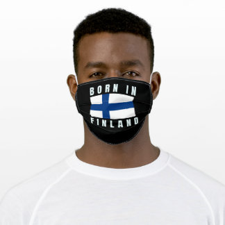 Born in Finland Adult Cloth Face Mask