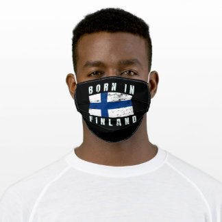 Born in Finland v2 Adult Cloth Face Mask