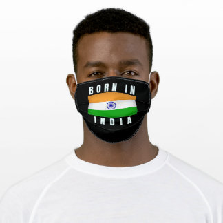 Born in India Adult Cloth Face Mask