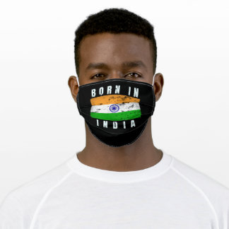 Born in India v2 Adult Cloth Face Mask