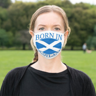 Born In Scotland Adult Cloth Face Mask