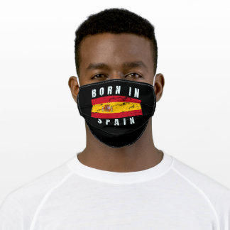Born in Spain v2 Adult Cloth Face Mask