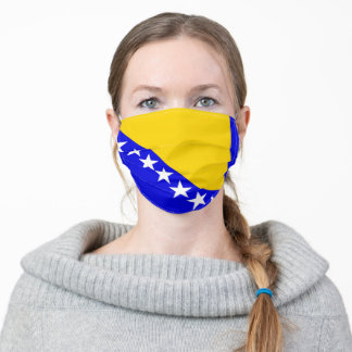 Bosnia and Herzegovina country flag symbol nation Adult Cloth Face Mask
