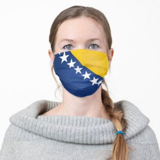 Bosnia and Herzegovina Flag Adult Cloth Face Mask