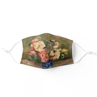 Bouquet of Roses by Renoir Impressionist Painting Adult Cloth Face Mask