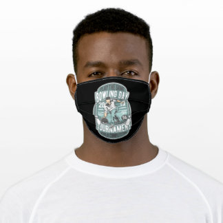 Bowling day adult cloth face mask