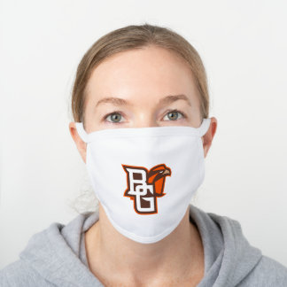 Bowling Green State Logo White Cotton Face Mask