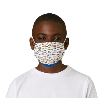 Boy Things That Move Vehicle Cars Pattern Kids' Cloth Face Mask