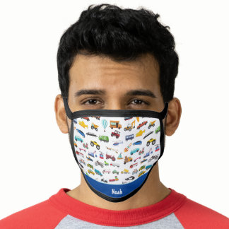 Boy Things That Move Vehicle Pattern Car Face Mask