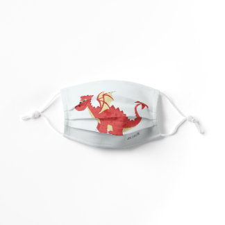 Boys Cute Red Magical Welsh Dragon Kids Kids' Cloth Face Mask