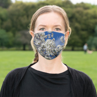Bradford Pear Blossoms Adult Cloth Face Mask