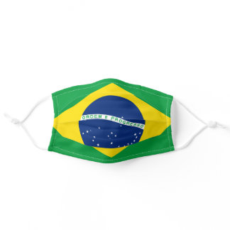 Brazilian flag mask,  Bandeira Auriverde Adult Cloth Face Mask