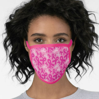 Breast Cancer Awareness Ribbons Face Mask