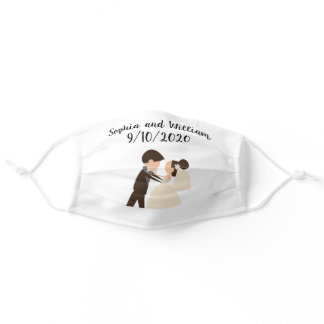 Bride and Groom Wedding Party Bridal Shower Adult Cloth Face Mask