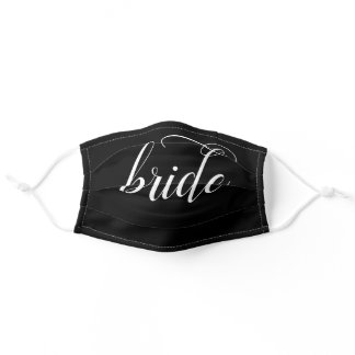 Bride Cloth Face Mask with Filter Slot