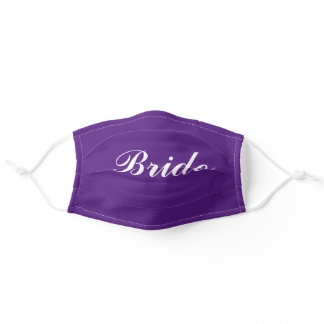 Bride Face Mask in Purple for Wedding Ceremony