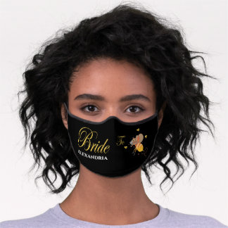 Bride To Bee Bridal Personalize Premium Face Mask