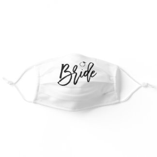 Bride With Ring White Adult Cloth Face Mask