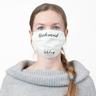 Bridesmaid Adult Cloth Face Mask