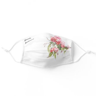 Bridesmaid Apple Blossoms Wedding Adjustable Adult Cloth Face Mask