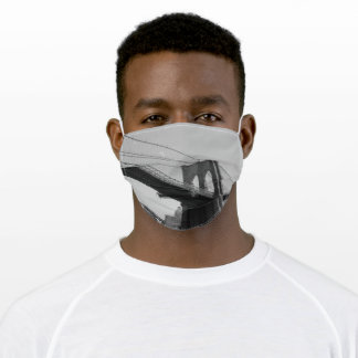 Bridge New York Black White USA America Architect Adult Cloth Face Mask